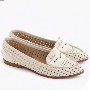 J Crew | Collins Woven Leather Loafer